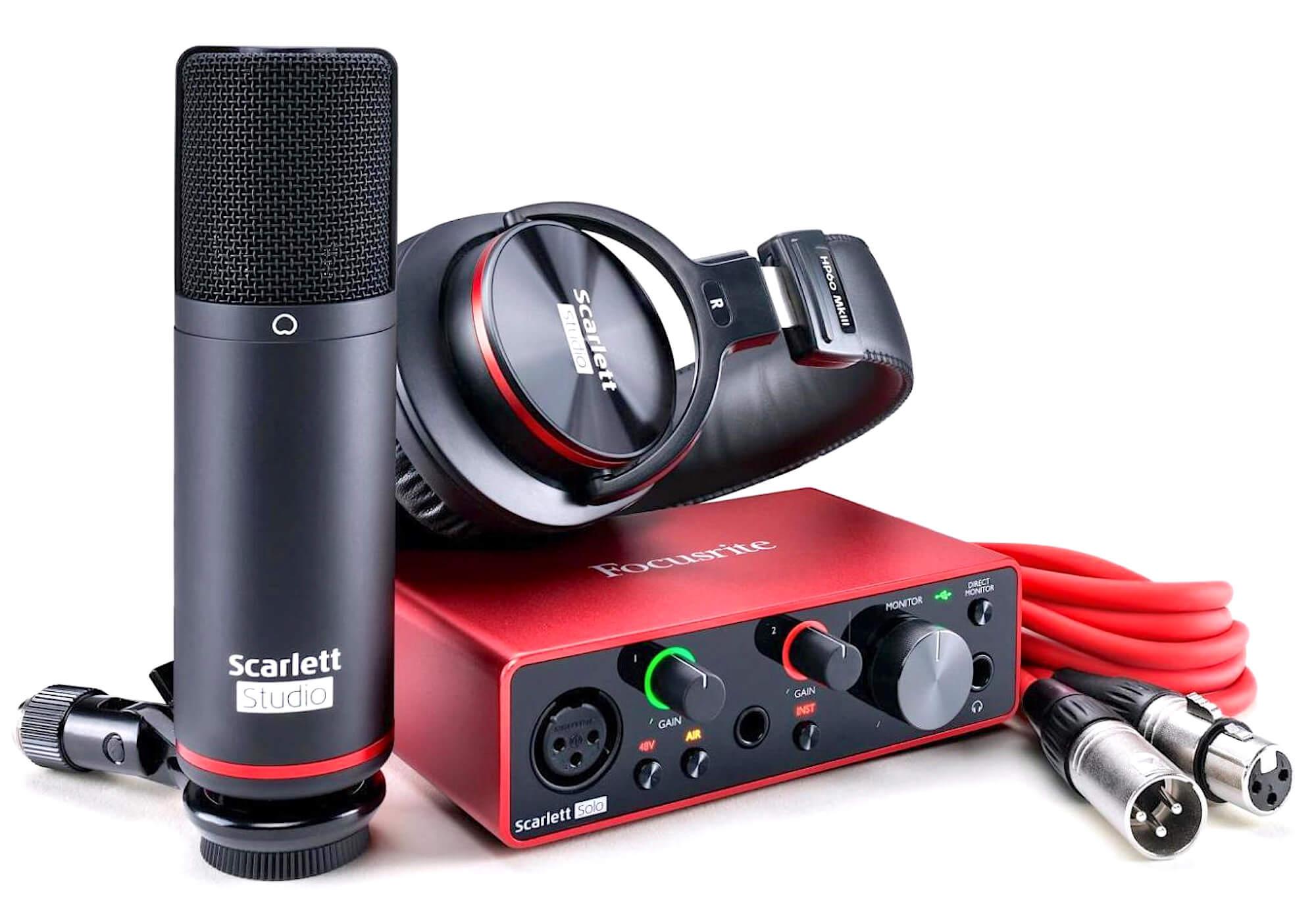 Комплект Focusrite Scarlett Solo Studio 3rd Gen — Audiomania.ru