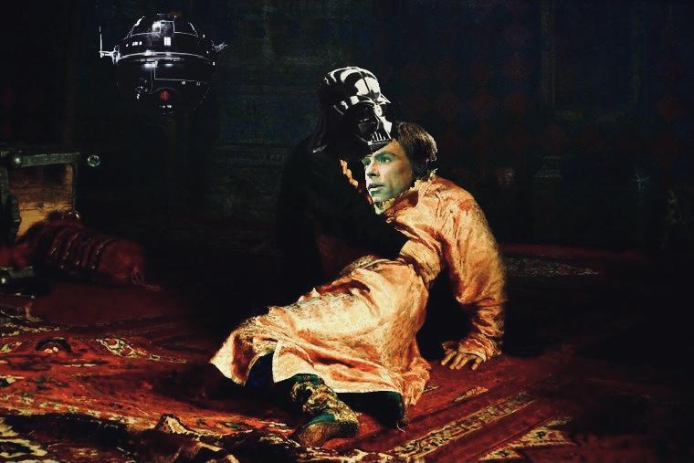 Картина. Дарт Вейдер убивает своего сына