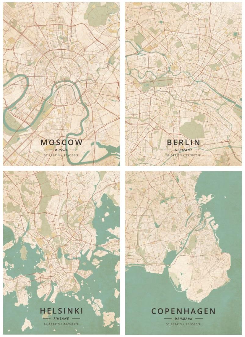Москва  Берлин  Хельсинки  Копенгаген за 4 года