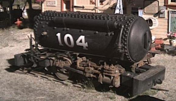 Пневмолокомотив Портера №104 с двигателем двукратного расширения с промежуточным подогревом окружающим воздухом. 1910 г.