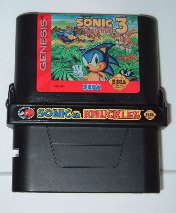 Картридж Sonic & Knuckles открывается сверху