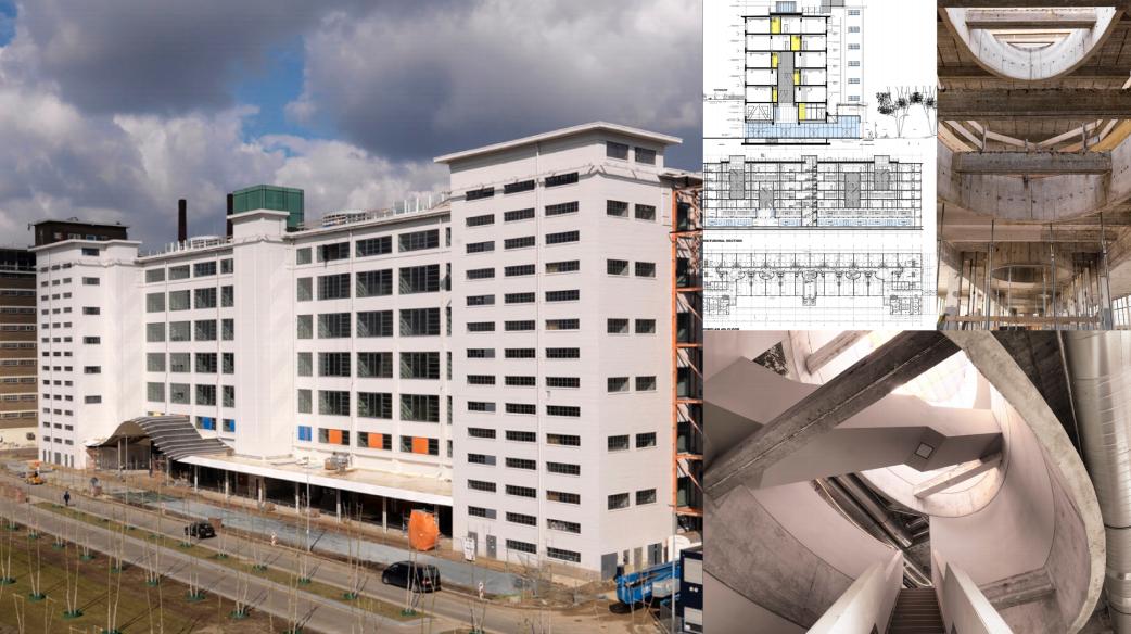 Трансформация одного из промышленных зданий компании Philips в Эйндховене (Нидерланды)
