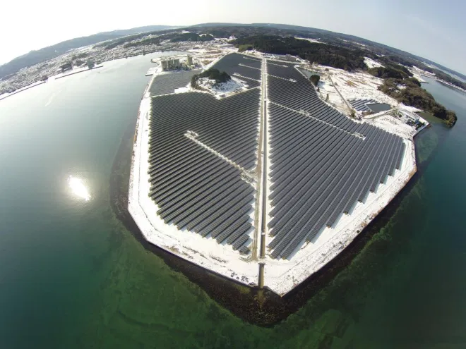 Японская солнечная электростанция НАНАО часть солнечного портфеля TOTAL