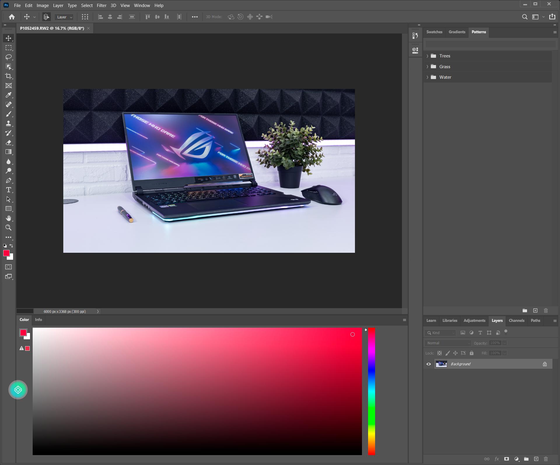 Adobe Photoshop на двух экранах
