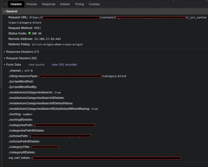 [Request Example] Configure Component