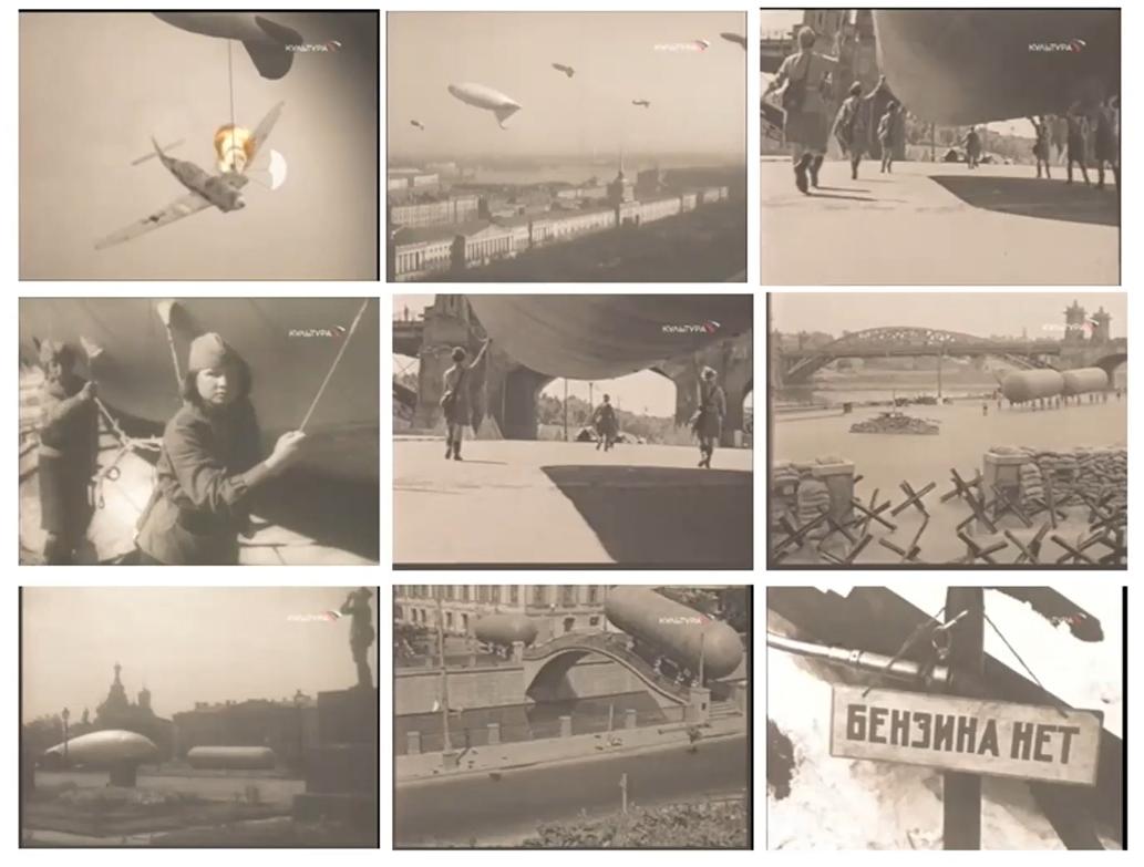 Фотографии и коллажи блокадного Ленинграда, который в сентябре 1941 года был отрезан от остальной страны