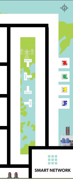 Часть макета поля (снизу зона старта финиша), цветами отмечены кубики которые там как бы стоят