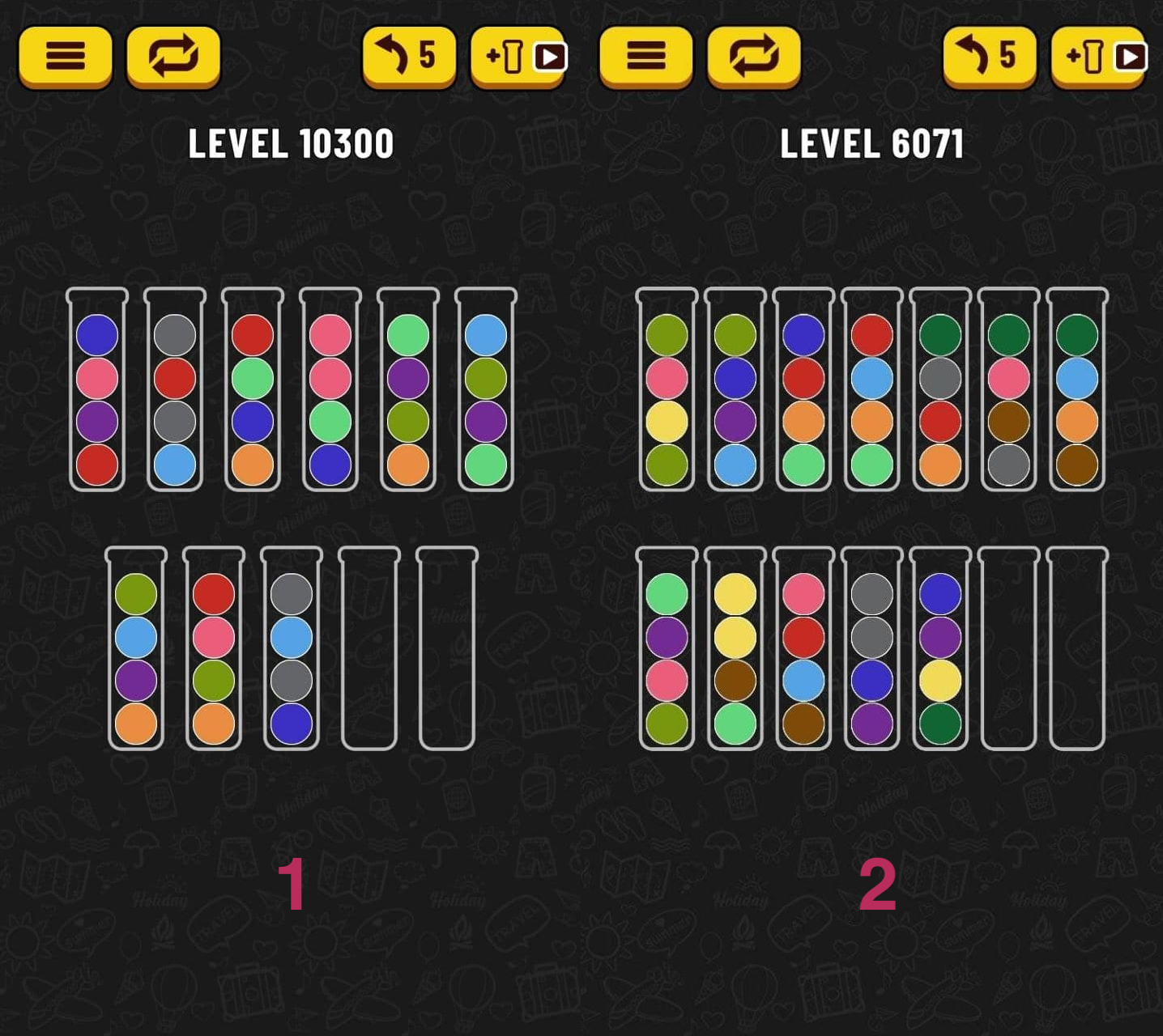 Скриншоты уровней игры