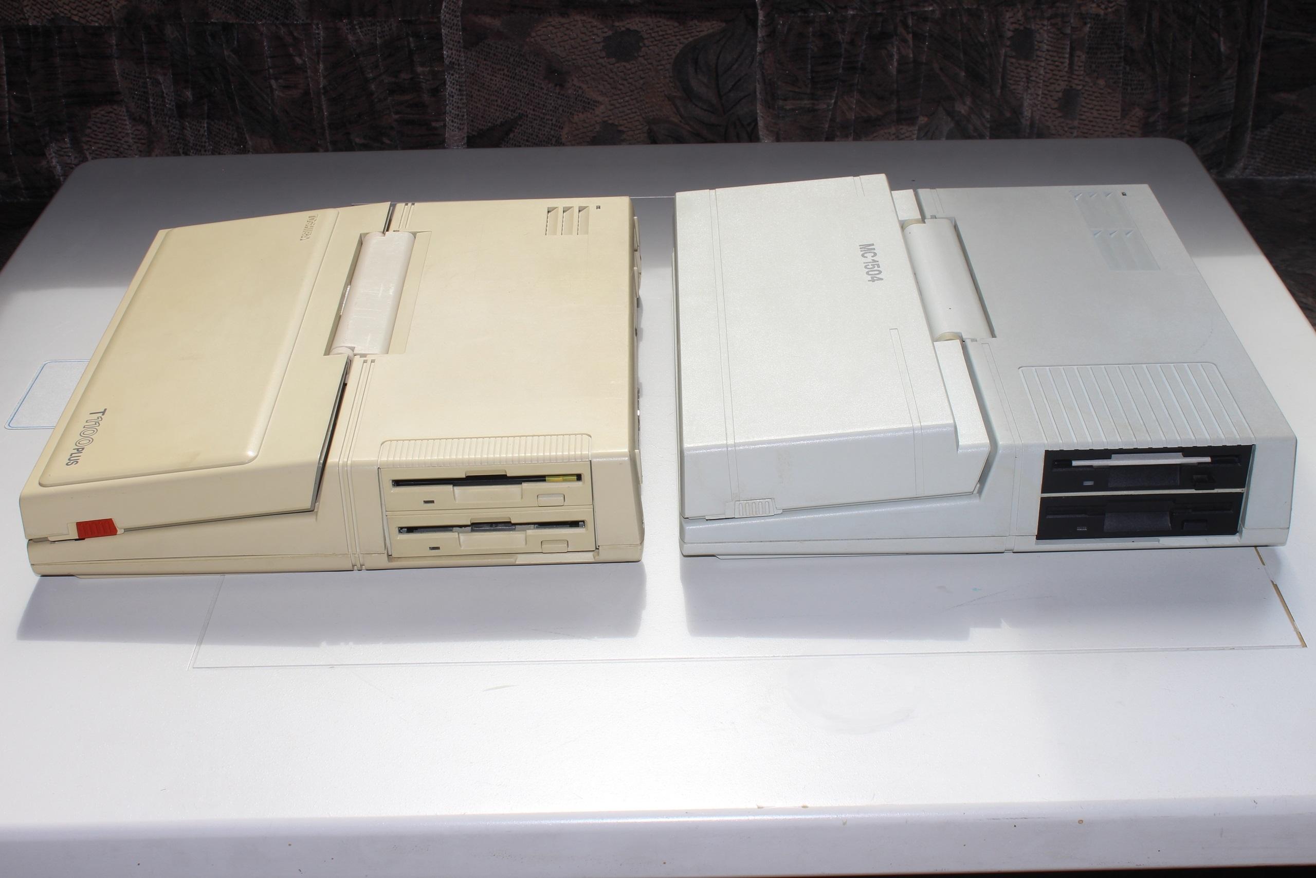Toshiba T1100 Plus и МС 1504