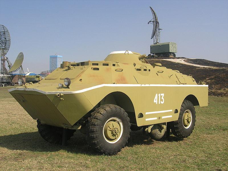 БРДМ-2РХБ. Такое ощущение, что снято вооружение и одно из выдвигаемых колёс.