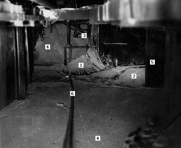 На фото 2 и 3 показаны кадры ноги с разных углов, она в обоих случаях маркирована цифрой 1. При этом на фото 2 виден её металлический блеск. Эти кадры появятся позже, тогда же расшифруем остальные цифры.