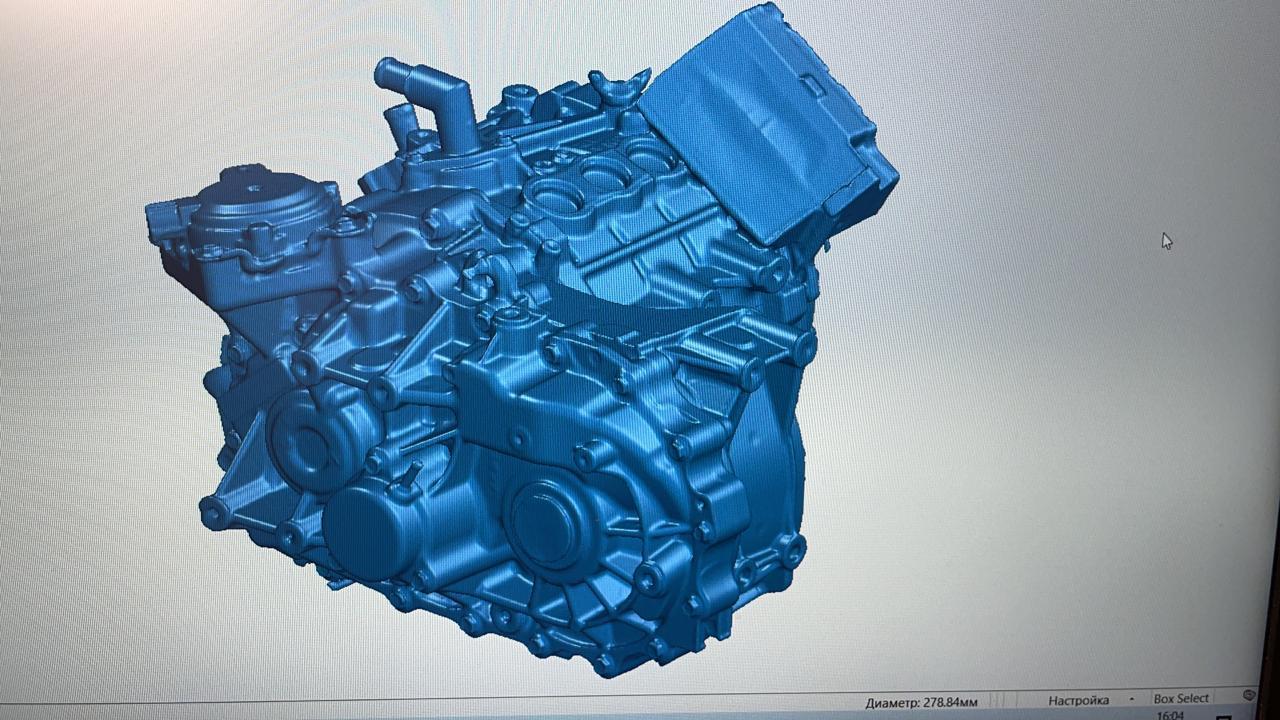 3D сканирование электромотора Nissan Leaf