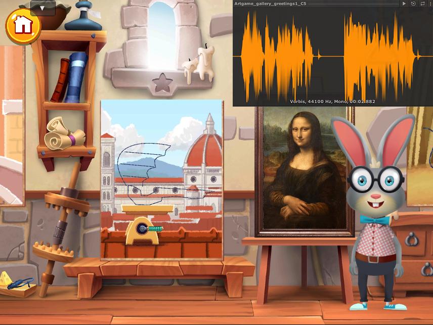 Когда волна больше определённого значения у Animator кролика включается параметр IsTalking.