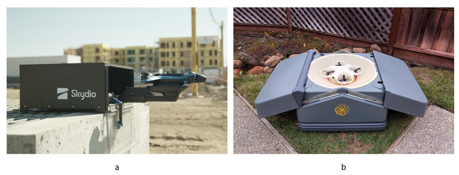Примеры посадочных платформ с воронками для всех опор от Skydio и всего БПЛА от Sunflower