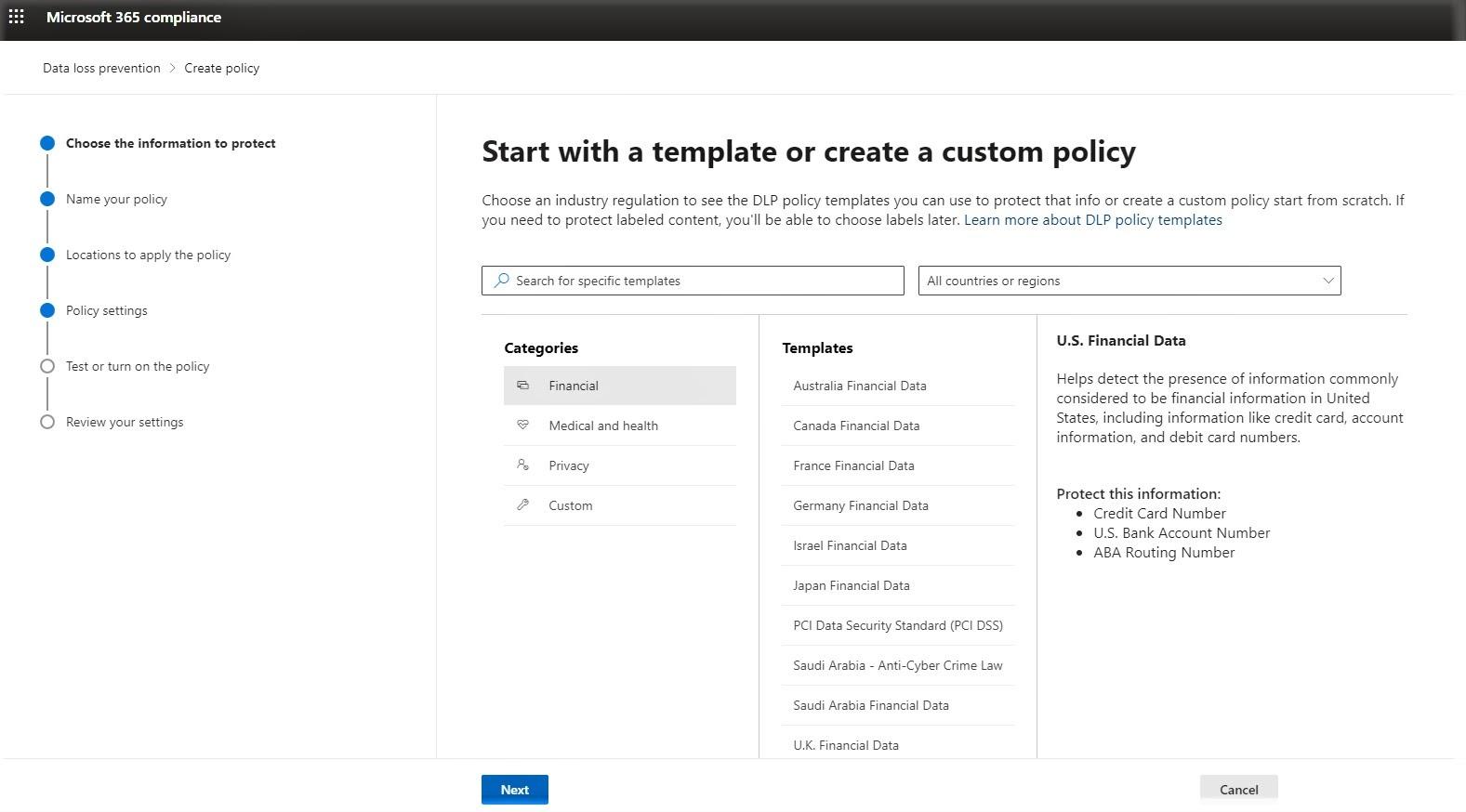 Встроенное DLP-решение в Microsoft 365