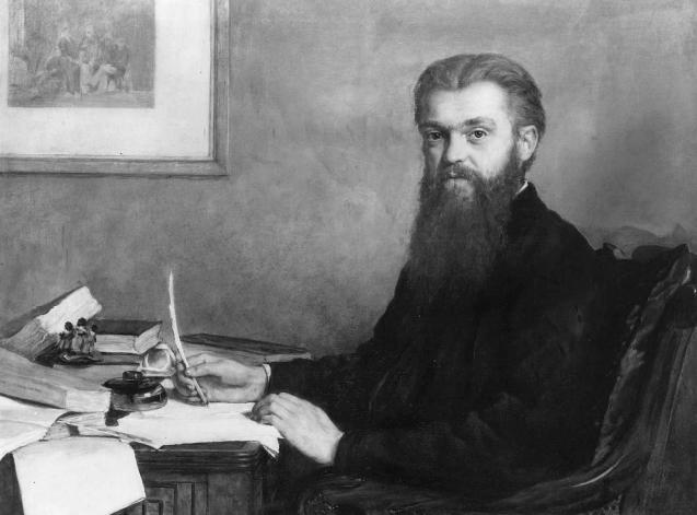Портрет Уильяма Кингдона Клиффорда (1845-1879), математика и философа, работы достопочтенного Дж. Джон Кольер. (Библиотека и архив Королевского общества.)