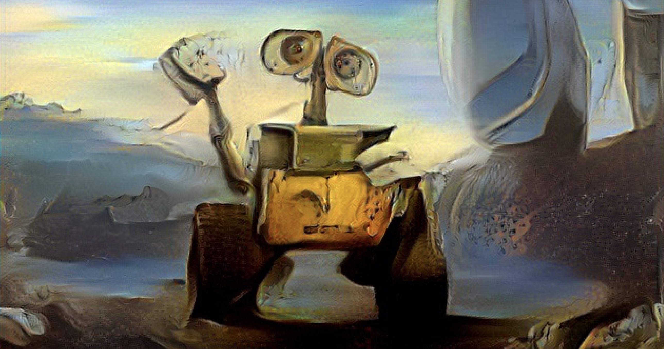 Старый добрый перенос стиля WALL · E  в Dalí