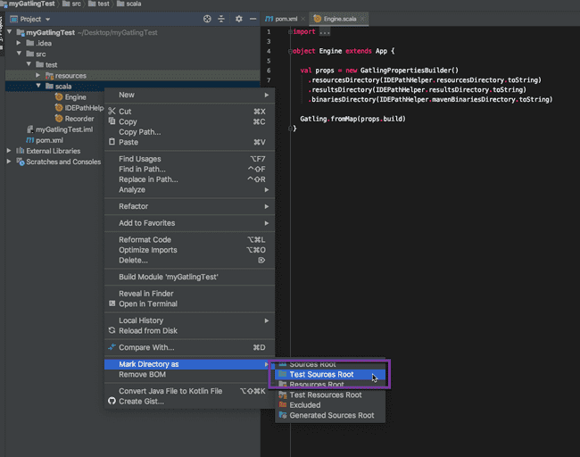 Mark Test Sources as Root in IntelliJ