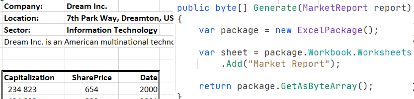 Старт работы с Excel на C