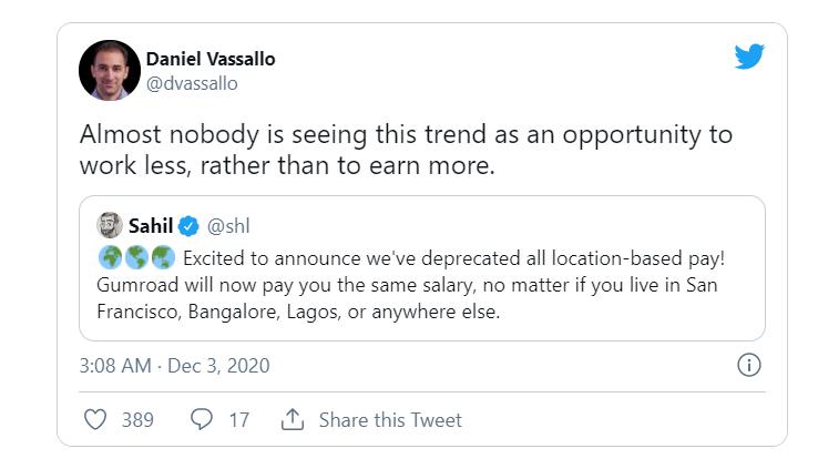 Мало кто видит в этом новом подходе возможность работать меньше, в отличие от привычного всем стремления зарабатывать больше.