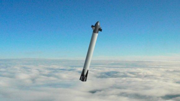 Демонстрационный образец на жидком водороде и кислороде Callisto. Совместный проект Франции, Германии и Японии (CNES).