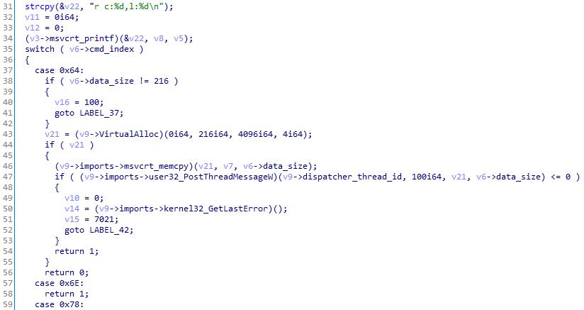 Shellcode snippet 3t54dE3r.tmp