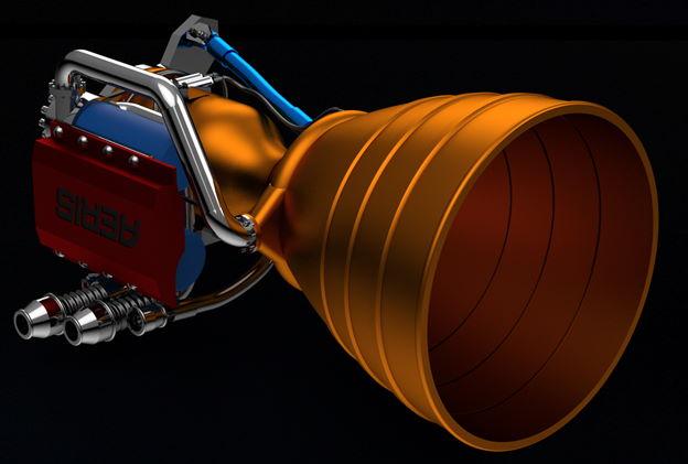 Общий вид двигателя