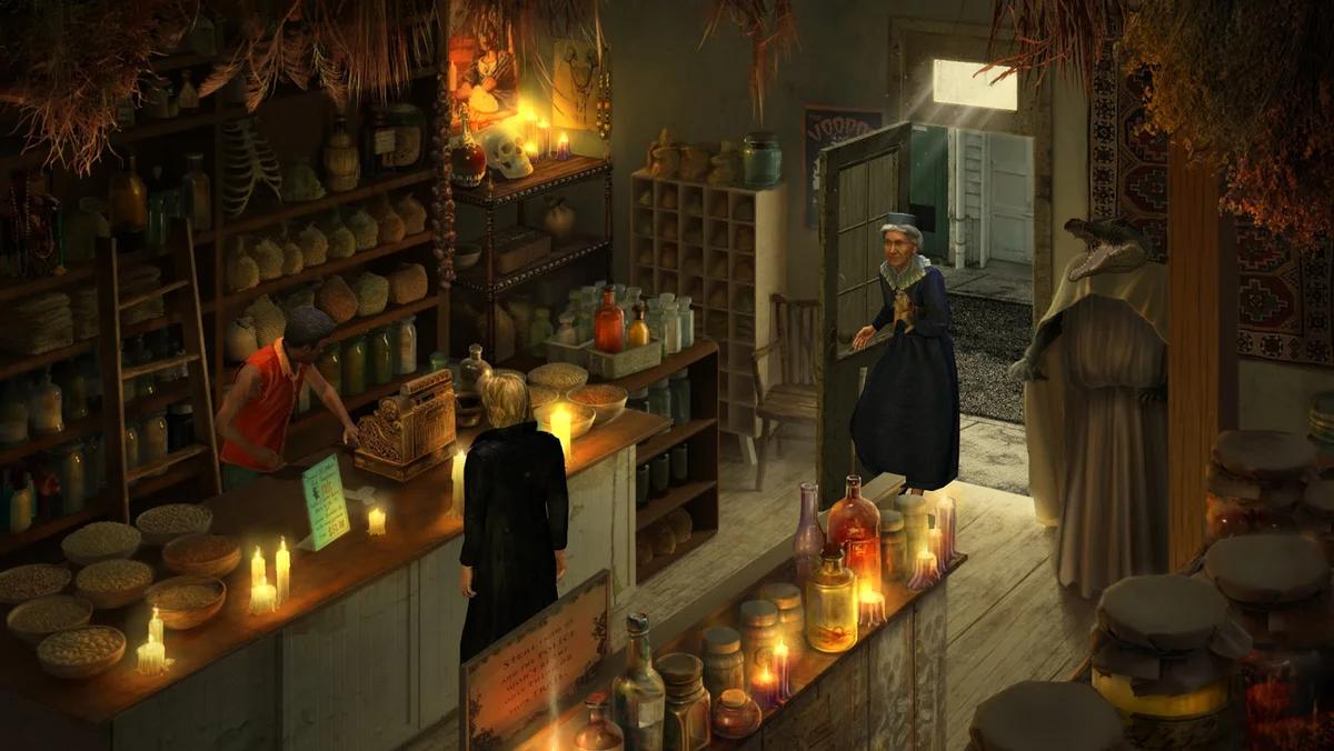 Сцена из древней игры Gabriel Knight: Sins of the Fathers компании Sierra On-Line