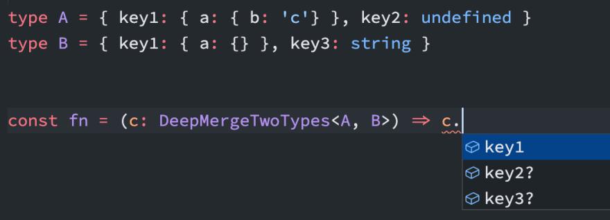 Перевод Typescript Объединение типов в глубину