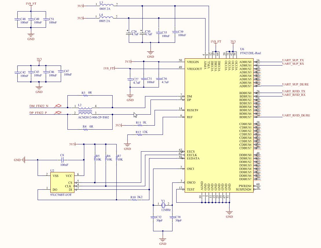 Схема расширения количества UART-ов