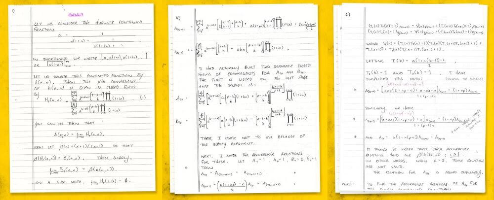 Отрывок статьи Хейвенса, опубликованной в журнале Исследования в области теории чисел.