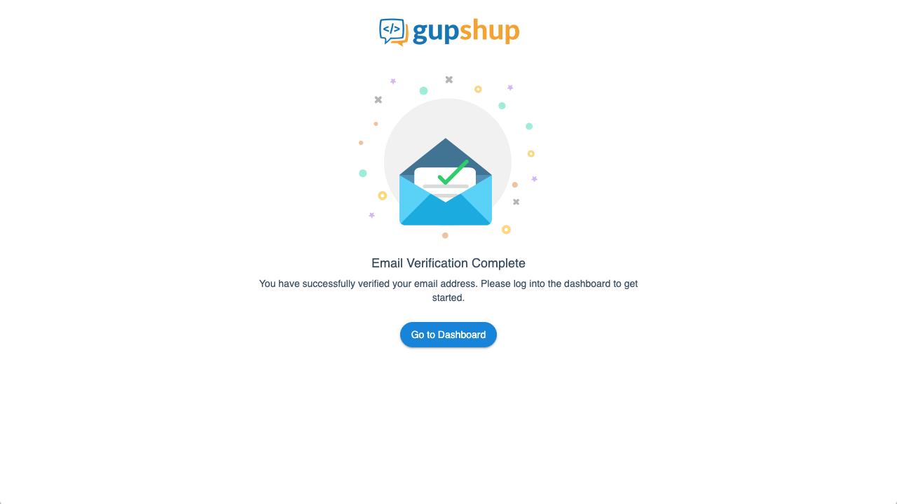 """Откроется окно """"Email Verification Complete"""""""