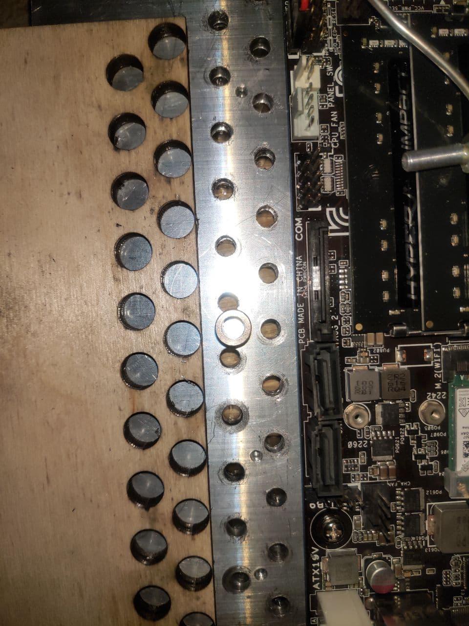 Сверление сквозных вентиляционных отверстий по шаблону