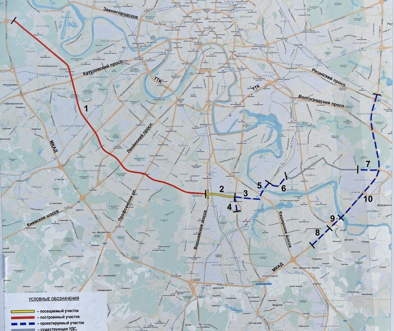 проект строительства внутригородской магистрали Южная рокада