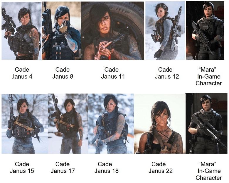 Сравнительные фото персонажей, предоставленные истцом