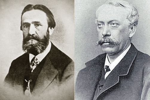 Павел Григорьевич фон Дервиз и Карл Федорович фон Мекк. Пока они работали вместе, всем их начинаниям сопутствовал фантастический успех