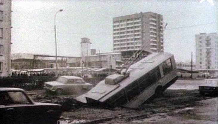 Кадр из фильма «Прорыв», посвященного аварии в Ленинградском метрополитене в 1974 году