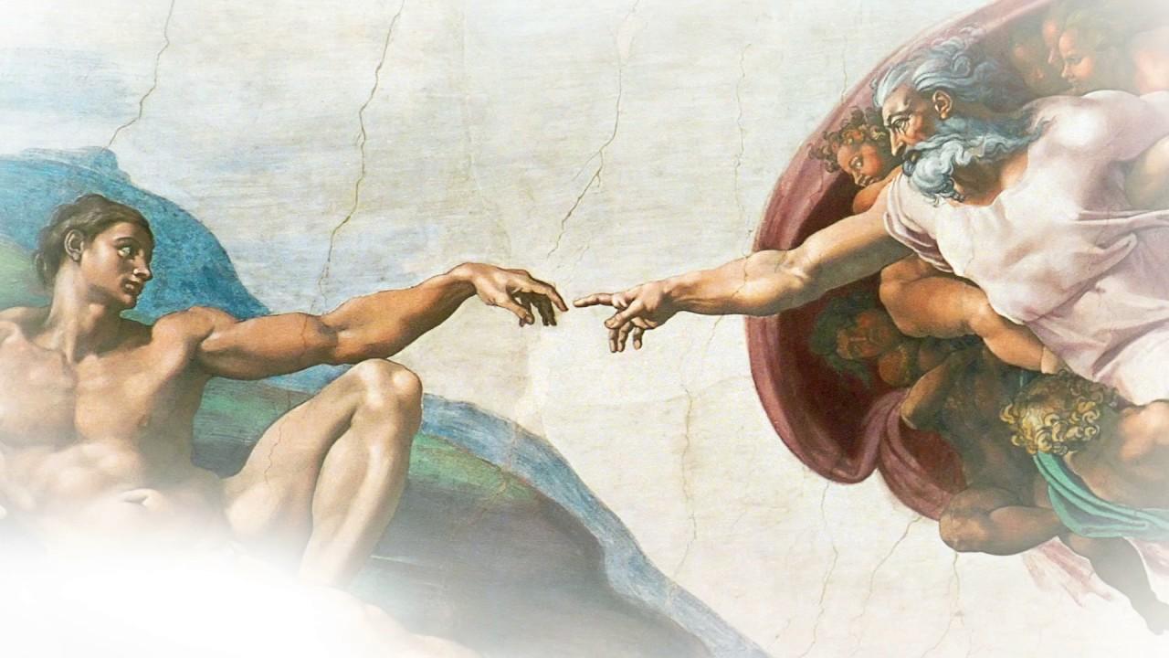 Сотворение Адама. Микеланжело Буонаротти (фрагмент)