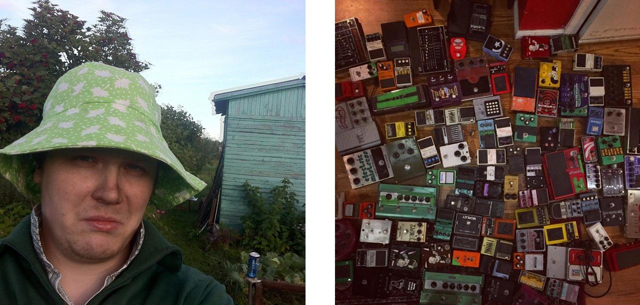 Слева — моя реальность в тот день, когда Шон купил педаль. А справа она у него среди другого хлама