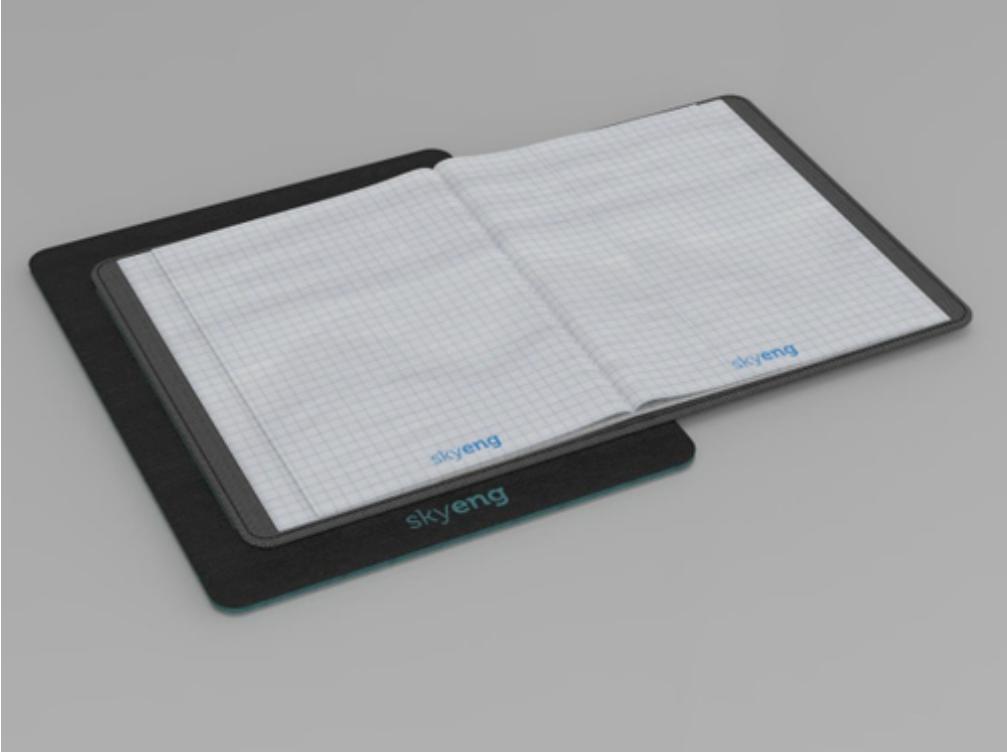 Финальный вариант дизайна планшета с обложкой для тетради.