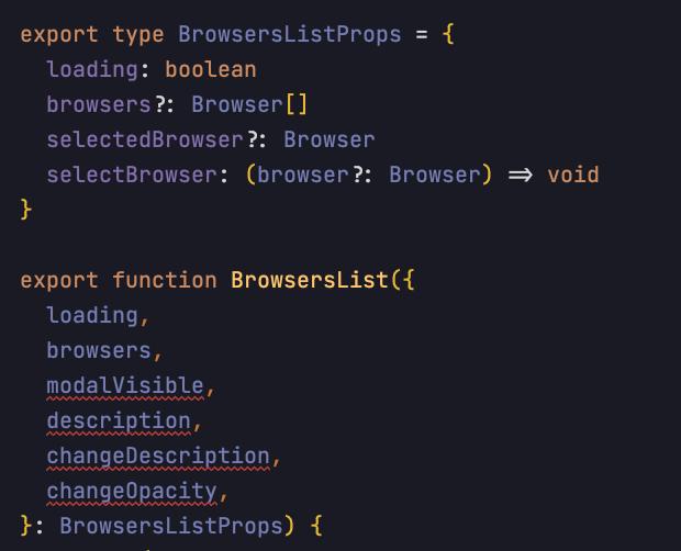 TypeScript проверяет правильность сигнатуры.