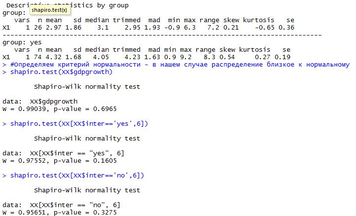 Проверка гипотезы равенства средних при неравной дисперсии в R