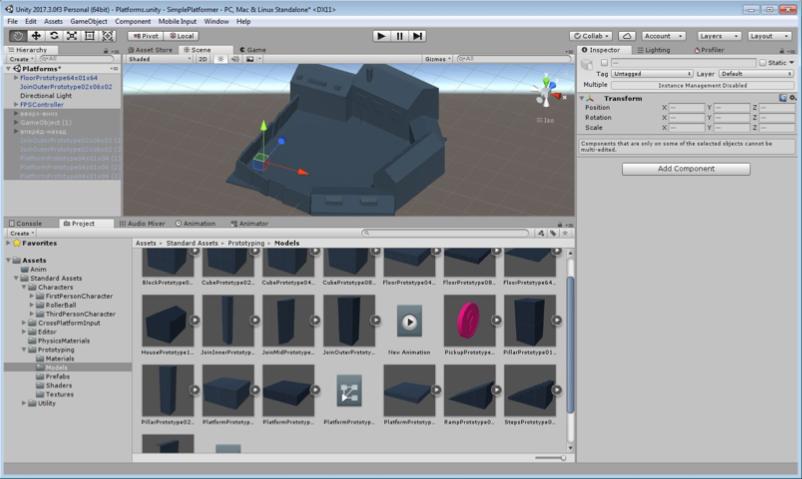 Платформер от первого лица на Unity3D