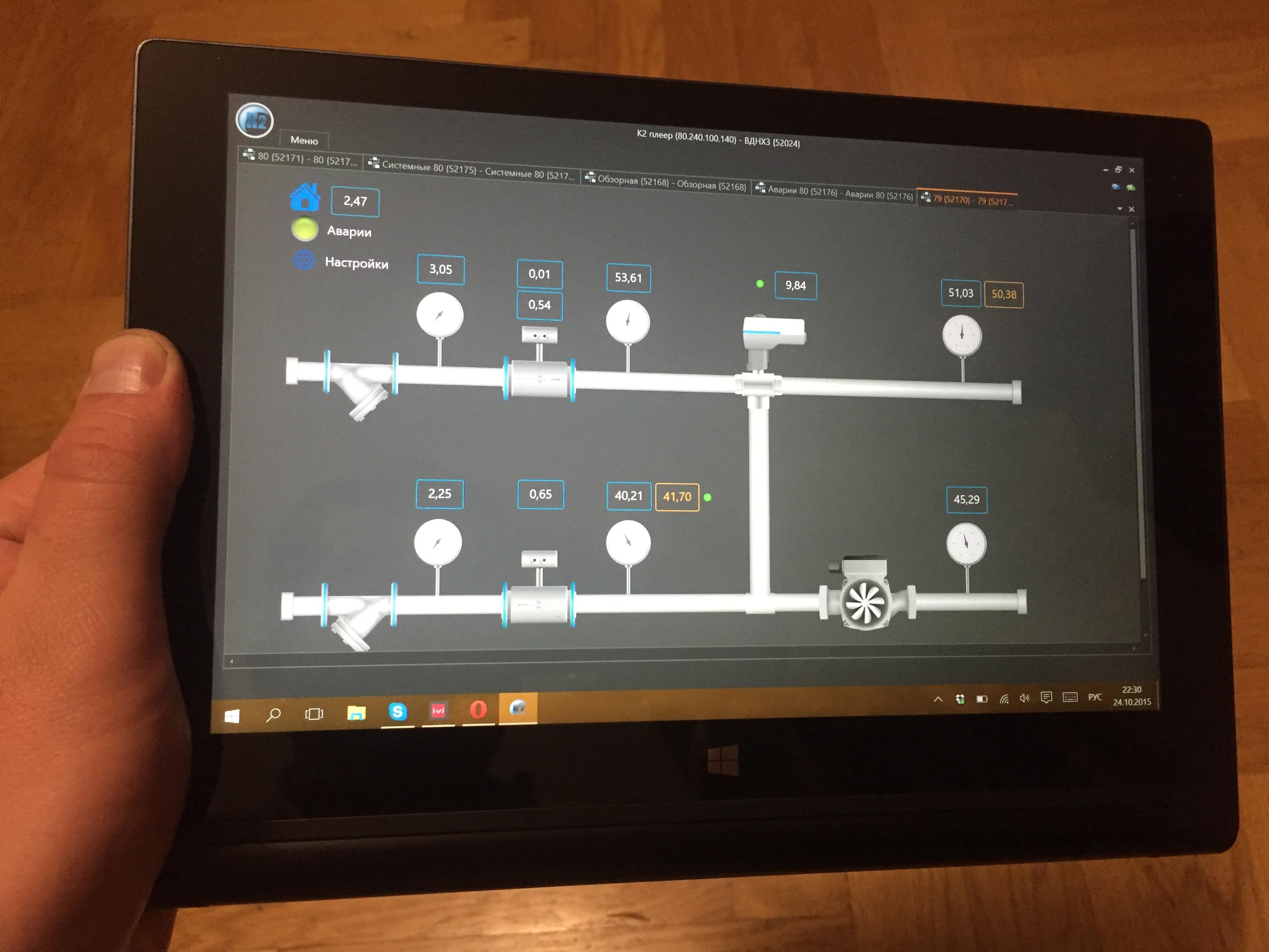 Окно диспетчеризации, можно открыть на любом устройстве под управлением Windows