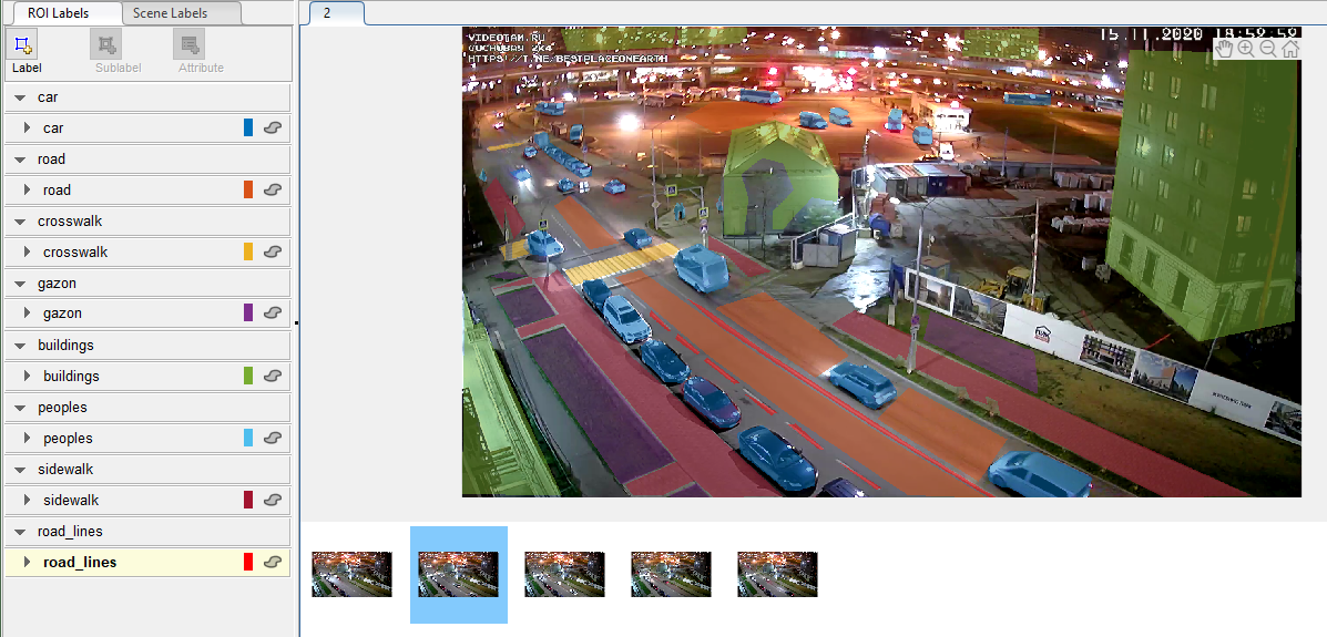 Рис. 1 Программа разметки кадров видеопотока