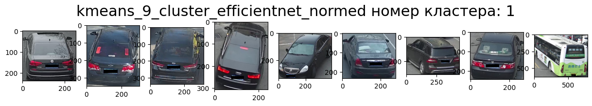 Кластер 1 тёмные машины, задом, ракурс влево много выбросов.