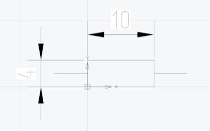Рис. 2. Размеры резистора, соответствующие ГОСТ