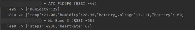 пример cli интерфейса с статусом доступных устройств