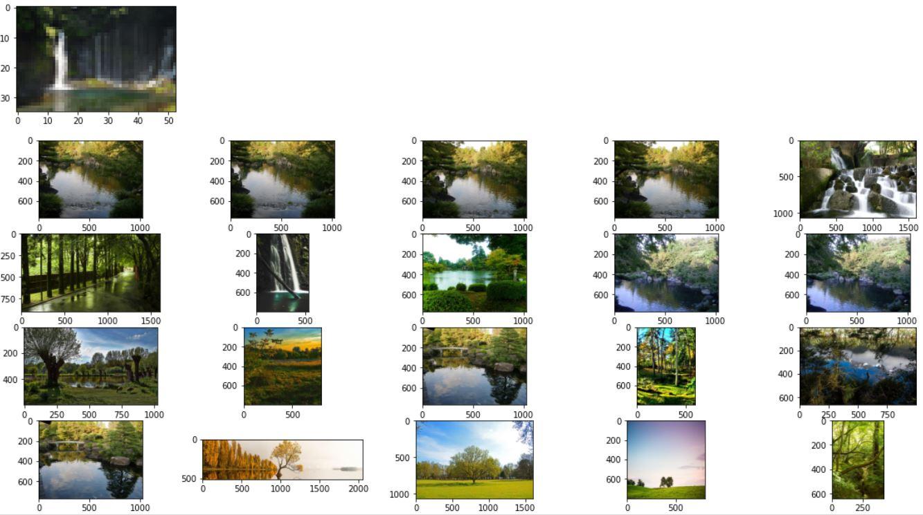 Поиск сильно пикселизированного изображения (CLIP)