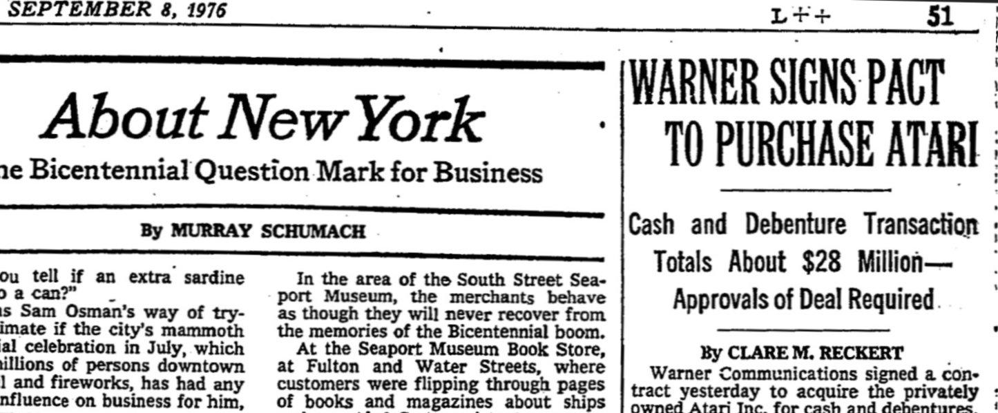 New York Times, 8 сентября 1976